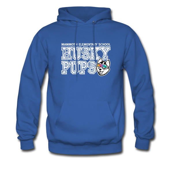 Men's Husky Pup Hoodie - royal blue