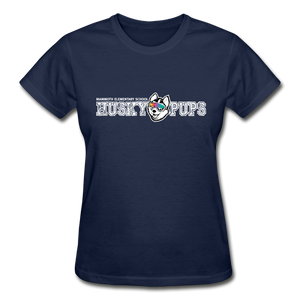 Ultra Cotton Women's Husky Pup T-Shirt - navy