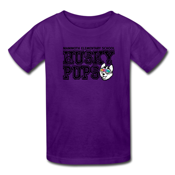 Kid's Husky Pup Tshirt - purple