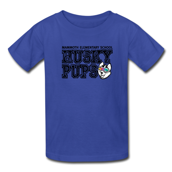 Kid's Husky Pup Tshirt - royal blue