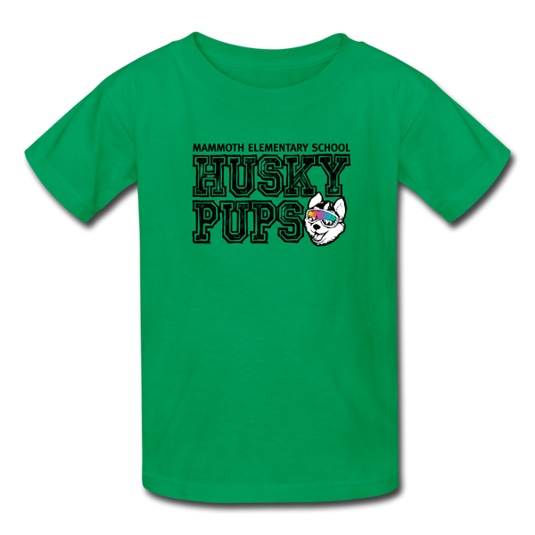 Kid's Husky Pup Tshirt - kelly green