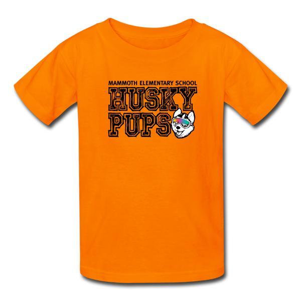 Kid's Husky Pup Tshirt - orange