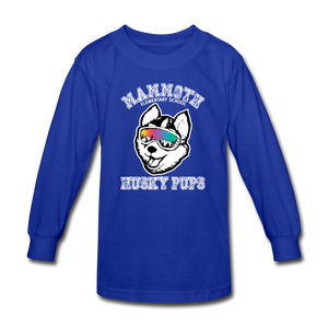 Kids' Long Sleeve Husky Pup Tshirt - royal blue