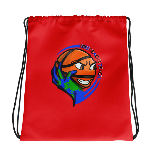 Single Logo Drawstring Bag Red