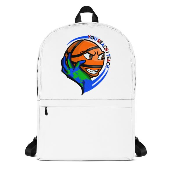 Single Logo Backpack White