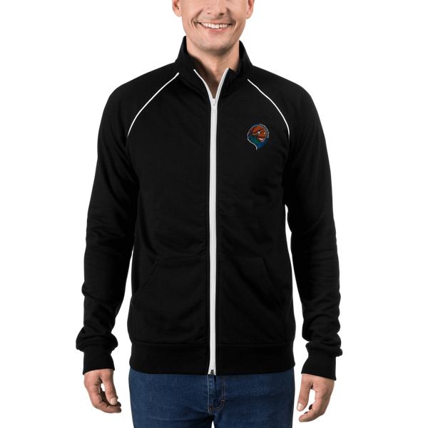 Embroidered Single Logo Piped Fleece Jacket