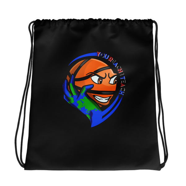 Single Logo Drawstring Bag Black