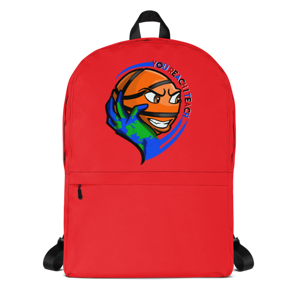 Single Logo Backpack Red