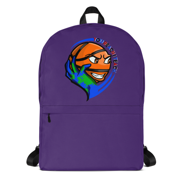Single Logo Backpack Purple