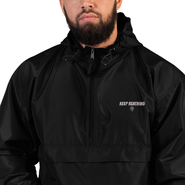 "Embroidered ""Keep Reaching"" Champion Packable Jacket"