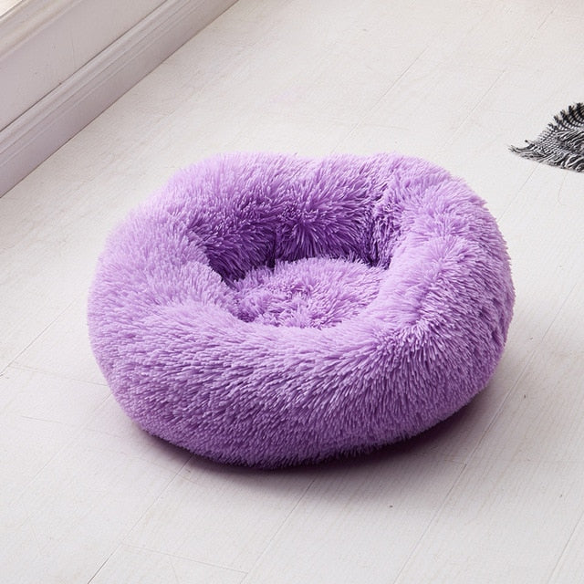 Dog Long Plush Dounts Bed