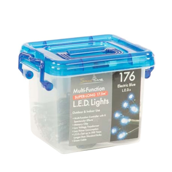 Snowtime 176 Multi-Function LED Lights Electric Blue - DeWaldens Garden Centre