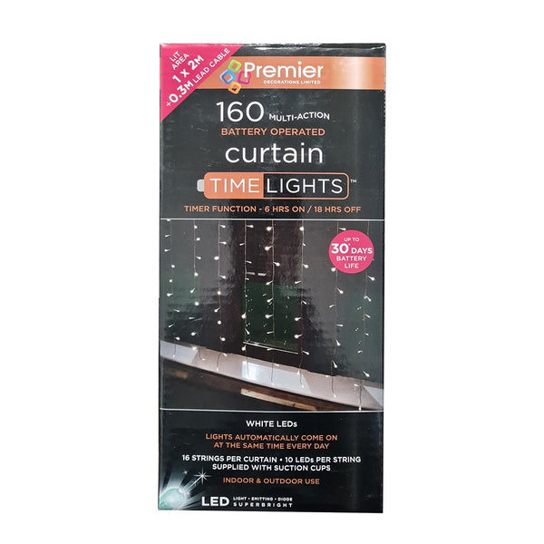 Premier 160 LED Multi Action Curtain Lights - DeWaldens Garden Centre