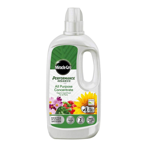 Miracle-Gro Performance Organics All Purpose Concentrated Liquid Plant Food - DeWaldens Garden Centre