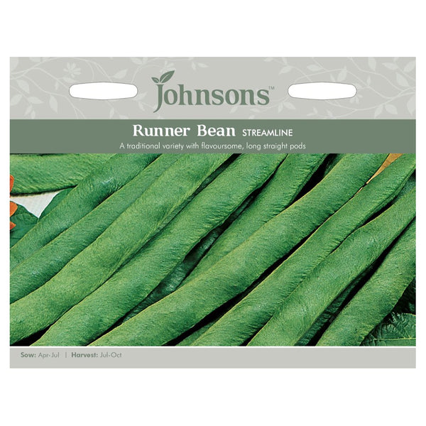 Johnsons Runner Bean Streamline Seeds - DeWaldens Garden Centre