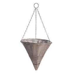 Gardman Rattan Effect Light Grey Hanging Cone
