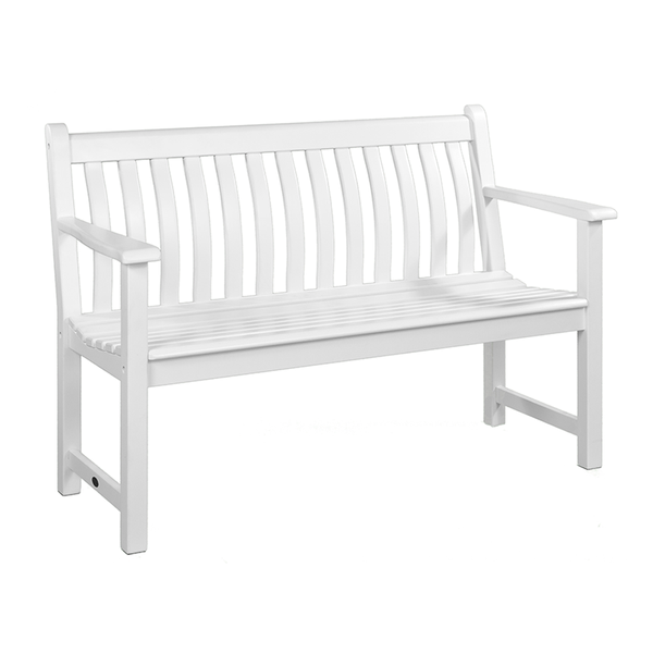 Alexander Rose New England White Painted Broadfield 4ft Bench | DeWaldens Garden Centre