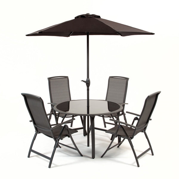 Havana 1.2m Reclining Set Charcoal