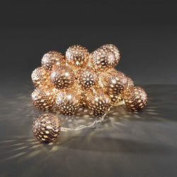 Konstsmide Copper Metal Ball Light Set - DeWaldens Garden Centre