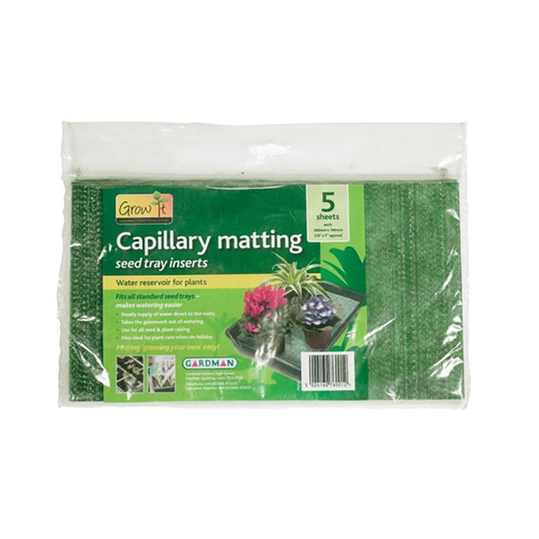 Grow It Capillary Matting Seed Tray Inserts 5 pack - DeWaldens Garden Centre