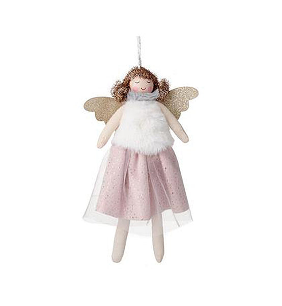 'Heaven Sends' Standing Angel In Fluffy Pink Skirt