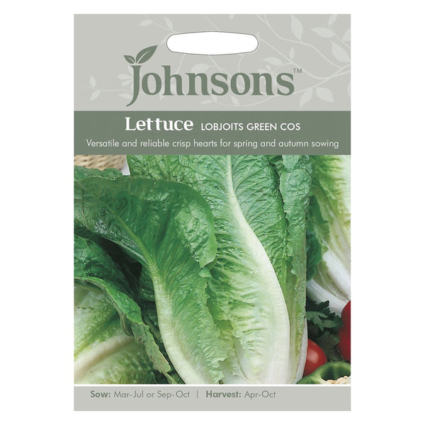 Johnsons Lettuce Lobjoits Green Cos Seeds - DeWaldens Garden Centre