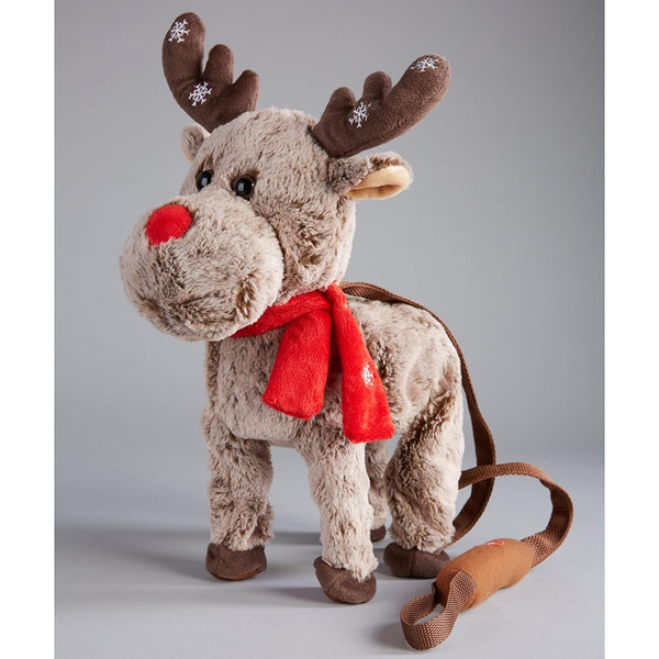 Festive 37cm Walking And Singing Reindeer - DeWaldens Garden Centre