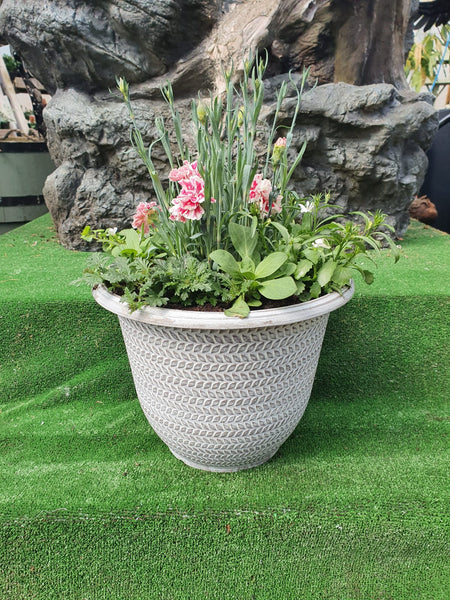 32cm Grey Large Deep Container - DeWaldens Garden Centre