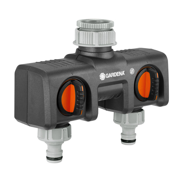 Gardena Twin-Tap Connector - DeWaldens Garden Centre