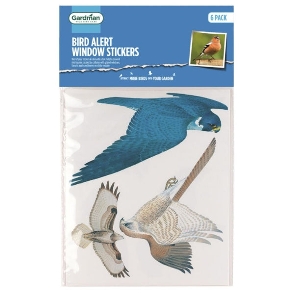 Gardman Bird Alert Window Stickers - DeWaldens Garden Centre