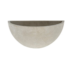 Apta Cement Bowl Wall Pot - DeWaldens Garden Centre