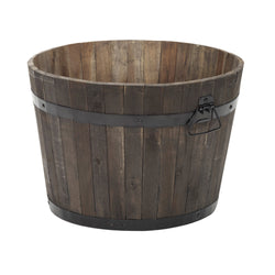 Apta Burnt Finish Rustic Barrel - DeWaldens Garden Centre