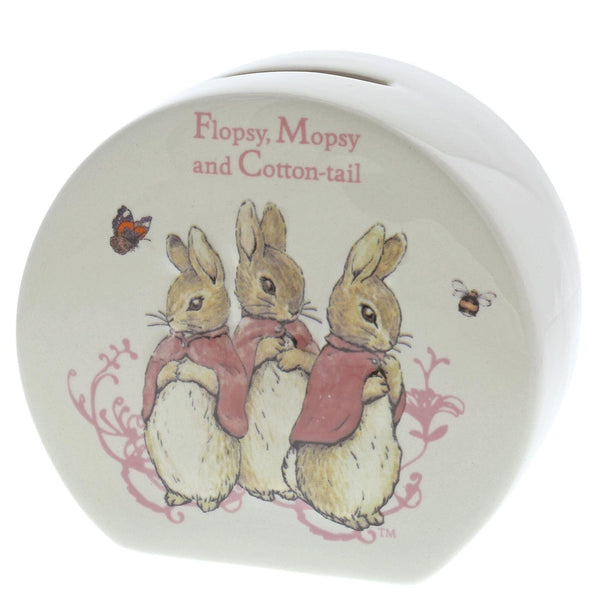 Beatrix Potter Flopsy Mopsy & Cottontail Money Bank - DeWaldens Garden Centre