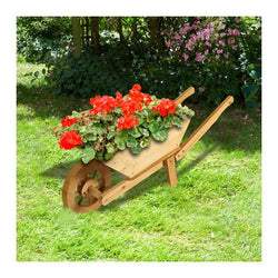 Brundle Wooden Wheelbarrow Planter - DeWaldens Garden Centre
