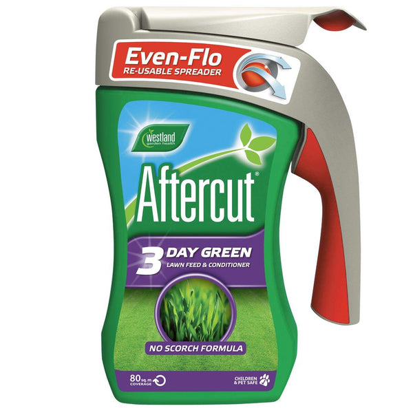 Westland Aftercut 3 Day Green Lawn Feed & Conditioner 80m2 Spreader - DeWaldens Garden Centre