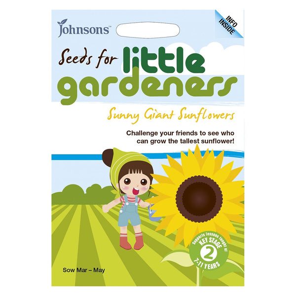 Johnsons Sunny Giant Sunflowers Seeds - DeWaldens Garden Centre