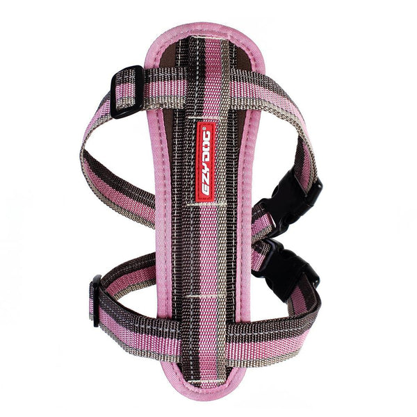 EzyDog Chest Plate Harness | Large | Candy Stripe | DeWaldens Garden Centre