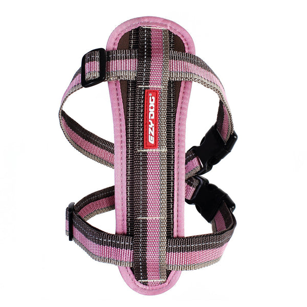 EzyDog Chest Plate Harness | Medium | Candy Stripe | DeWaldens Garden Centre