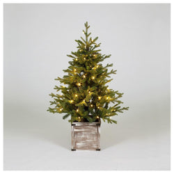 Snowtime Norway Spruce Pre-Lit Porch Tree 120cm - DeWaldens Garden Centre