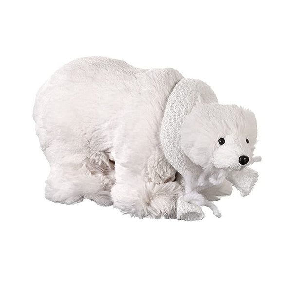 Heaven Sends Plush Polar Bear Decoration - DeWaldens Garden Centre