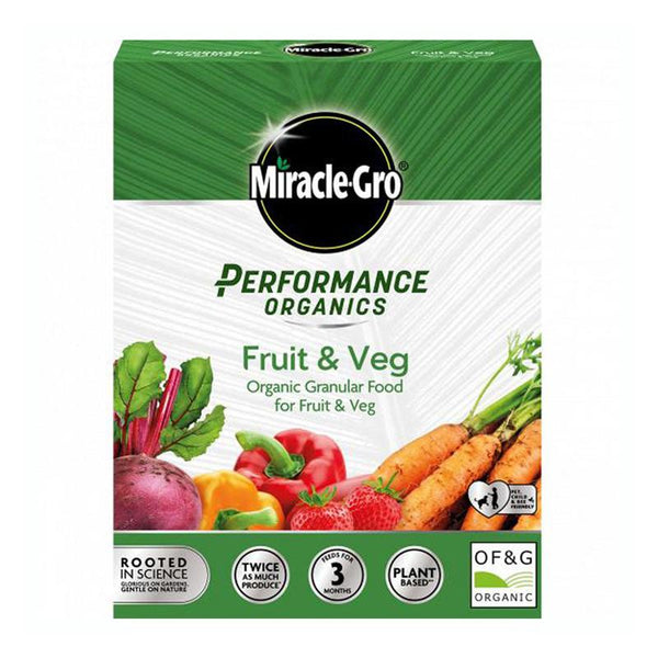 Miracle-Gro Performance Organics Fruit & Veg Plant Food - DeWaldens Garden Centre