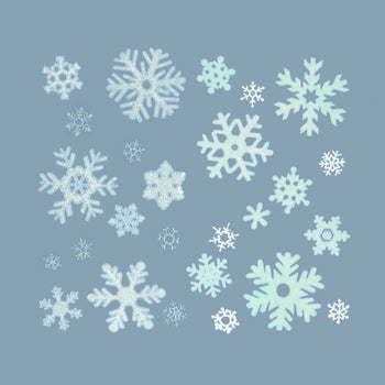Premier 40cm Snowflake Window Sticker 2 Assorted - DeWaldens Garden Centre