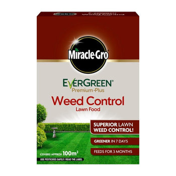 Miracle Gro Evergreen Premium Plus Weed Control Lawn Food 100m2 - DeWaldens Garden Centre