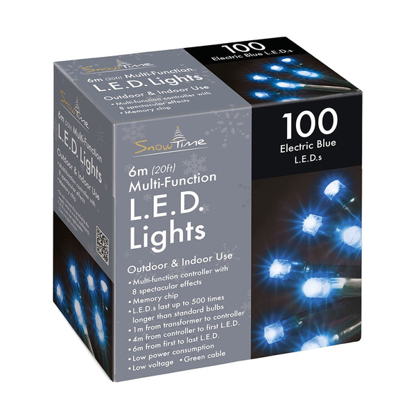 Snowtime 100 Multi-Function LED Lights Electric Blue - DeWaldens Garden Centre