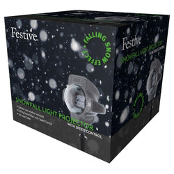 Festive LED Snowfall Light Projector - DeWaldens Garden Centre
