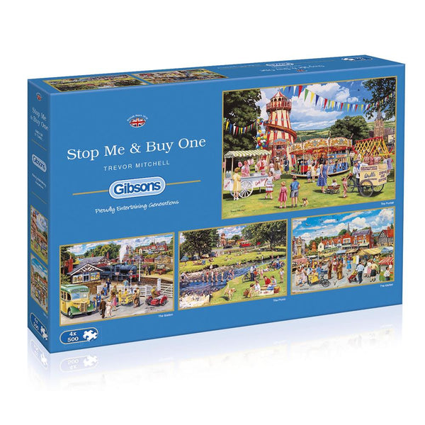 Gibsons 4x500 Piece Jigsaw Puzzle - Stop Me and Buy One - DeWaldens Garden Centre