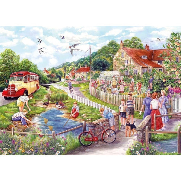 Gibsons 1000 Piece Jigsaw Puzzle - Summer by the Stream - DeWaldens Garden Centre