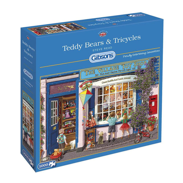 Gibsons 1000 Piece Jigsaw Puzzle - Teddy Bears & Tricycles - DeWaldens Garden Centre