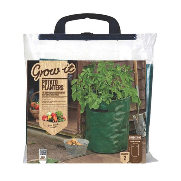 Gardman Grow It Potato Planters - Pack of 2 - DeWaldens Garden Centre