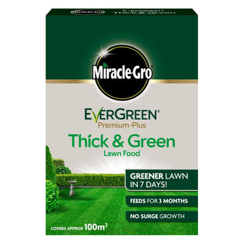 Miracle Gro Evergreen Premium Plus Thick & Green Lawn Food 100m2 - DeWaldens Garden Centre